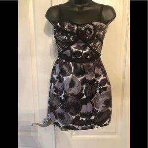 BCBGMAXAZRIA black combo mini dress size 0P